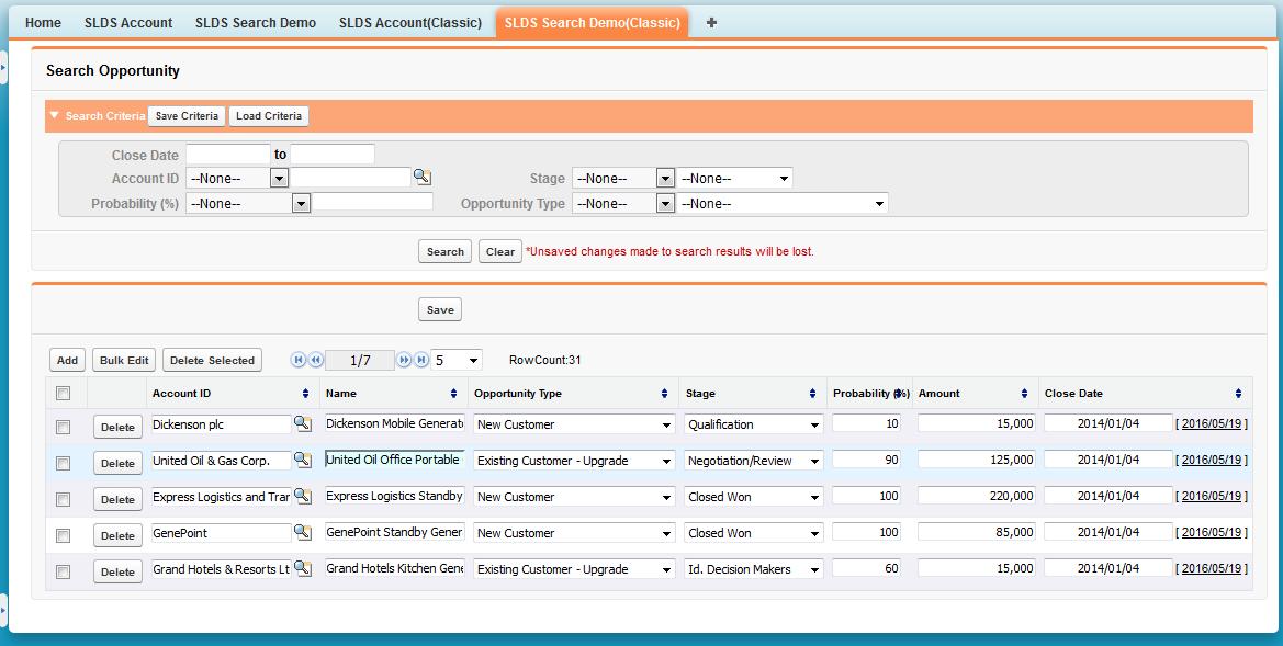 4-13 Samples of Salesforce Lightning Design System